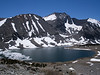 The largest of the Baxter Lakes.  there are some nice campsites in the trees near the lake.