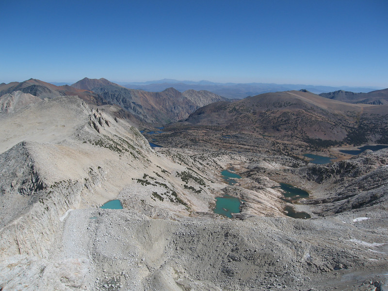 Beautiful view from the summit of Mount Conness