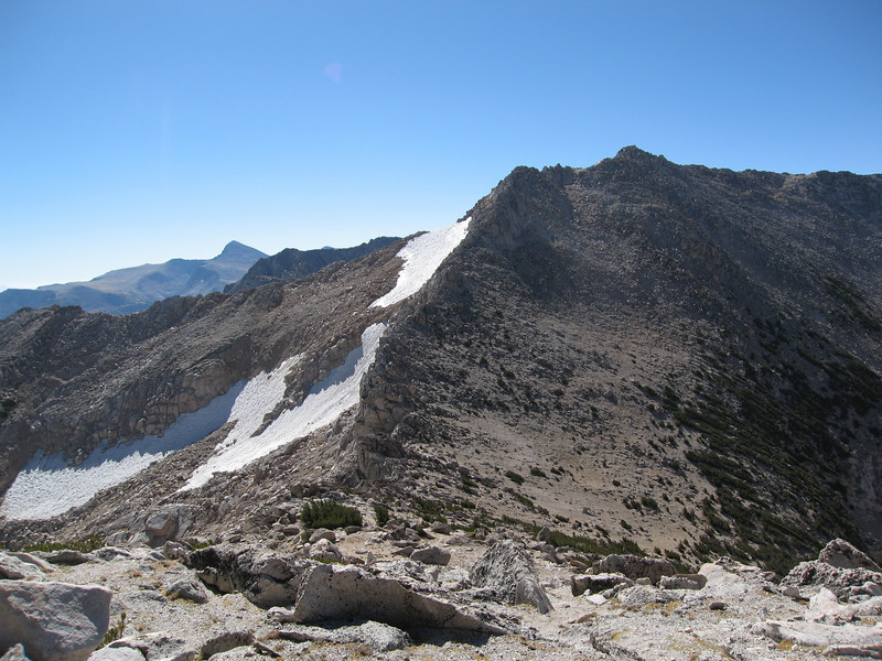 Looking back at the White Mountain and the White-Conness Saddle.