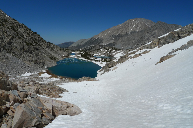 Back at the Treasure Lake I started from and lots of the ice melted off during the day.