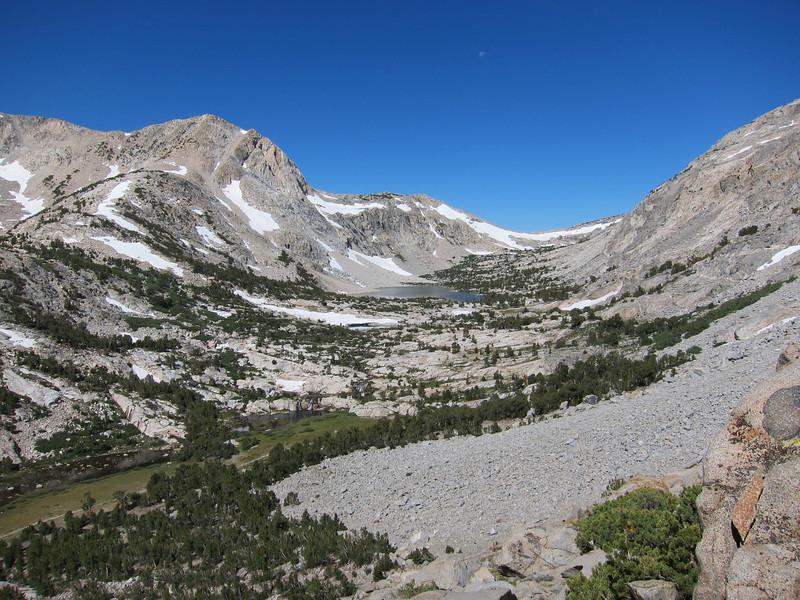 View up toward Piute Pass