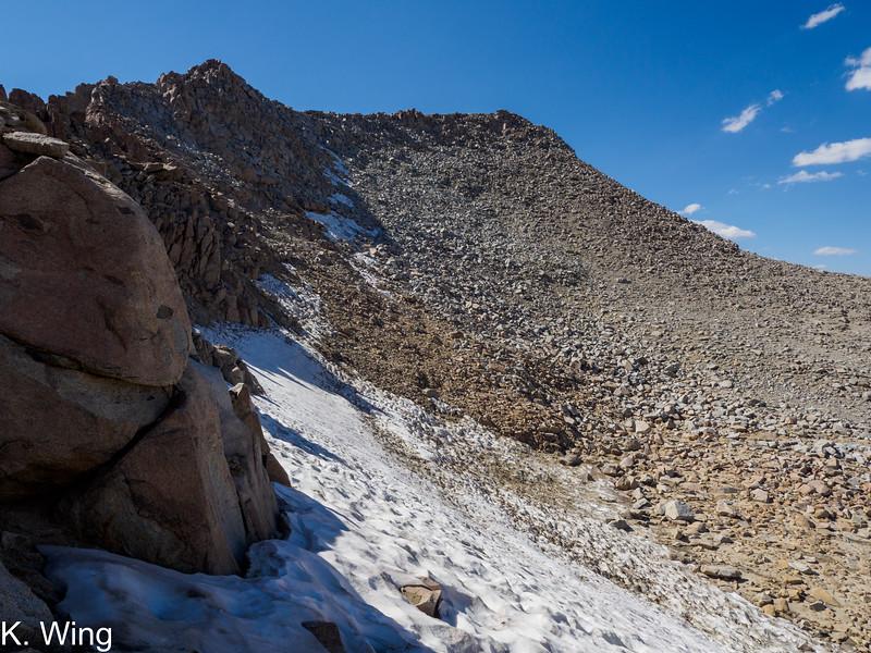 Mount Lamarck as seen from near Lamarck Col