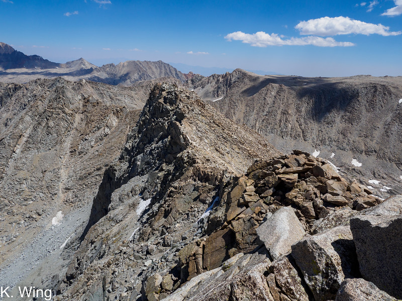 The ridge from Alpine Col to Mount Geothe
