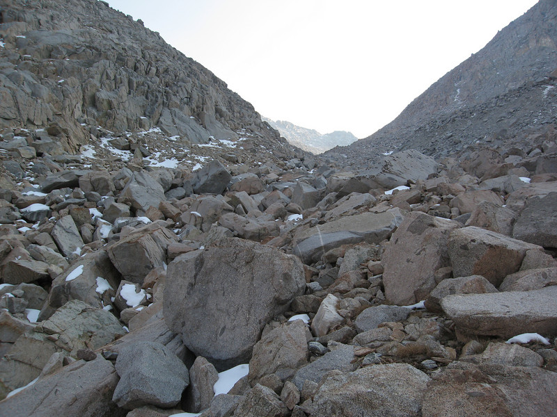 Endless boulders/talus/rocks