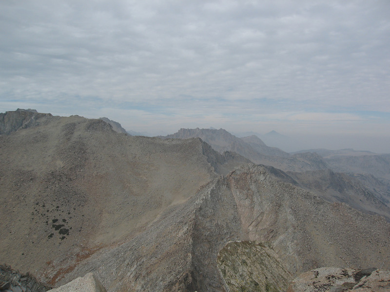 Smoky view from the summit of Mount Johnson.  That's the way I'd head over to Gilbert, but it's too far for today.