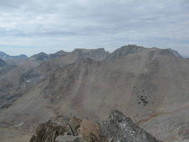 Smoky view from the summit of Mount Johnson - Gilbert to the right.