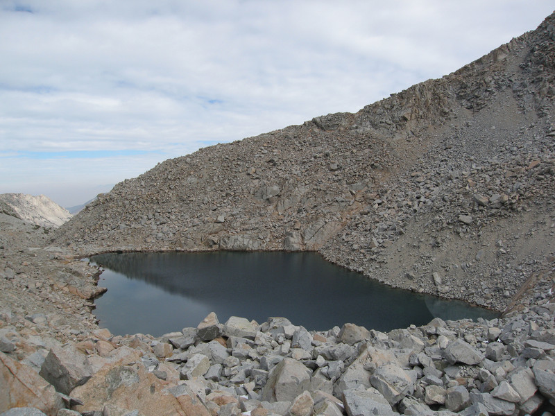 Looking back at the lake as I headed through the boulders to Mount Johnson.
