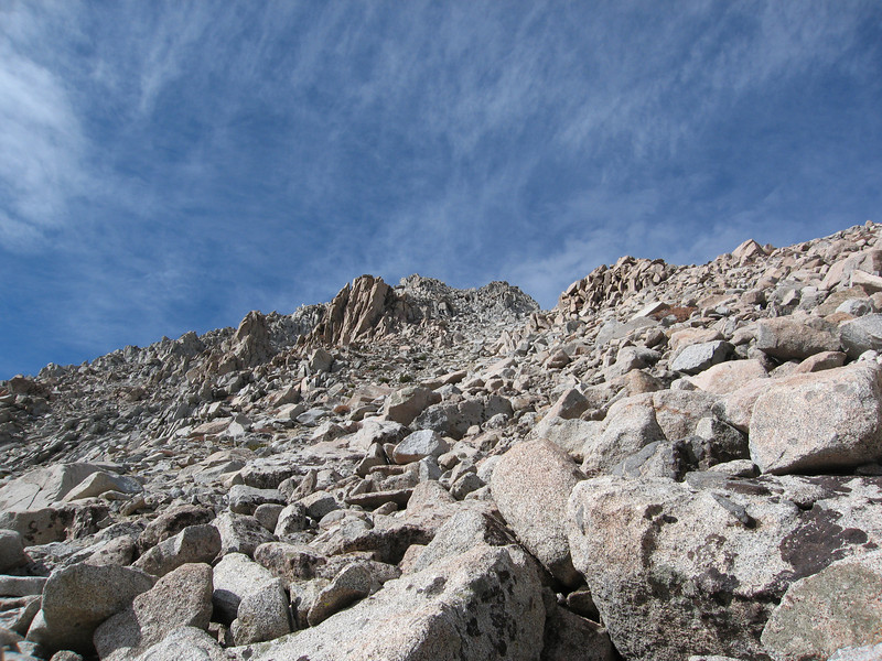I avoided some of the sand by staying in the rocks and boulders, but the boulders weren't much more fun than the sand.