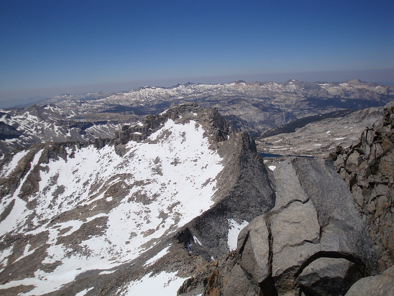 View southwest from the summit of Lyell.