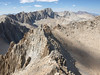 Mount Muir, Mount Whitney, Mourt Russell, and Mount Williamson along the crest.