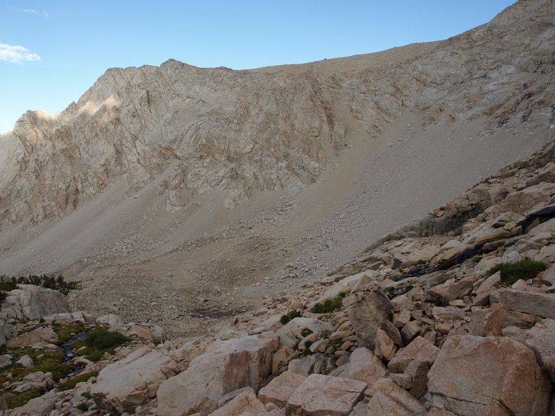 Looking over at Lone Pine Peak.  The chute you take up to Lone Pine Peak is in the center of the photo.