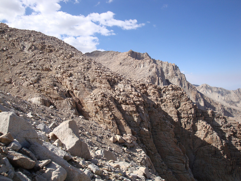 Another view of Mount Irvine - you can see the route up Irvine via it's northeast ridge in this shot.