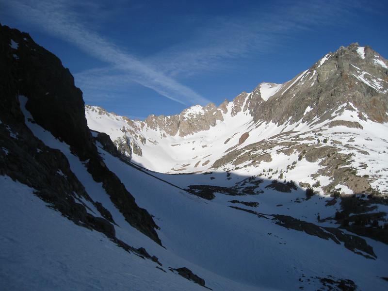Looking up toward Diamond Peak