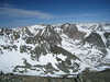 View NNW from the summit of Mary Austin.  Diamond Peak to the left of center and Baxter Pass to the left side of the photo.