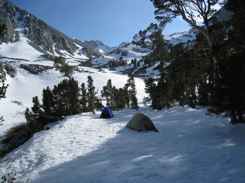 We found a great campsite at 10,750' - there was even running water around the corner from the campsite.