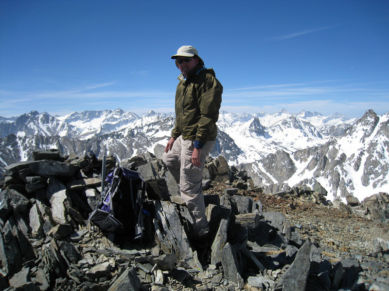John on the summit of Mount Mary Austin.