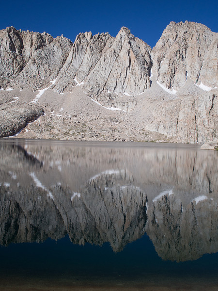 Sky Blue Lake.  I tried going around one way, but soon realized I needed to go around the other way.