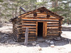 The cabin at the northwest end of Horseshoe Meadowns.  It has seen better days - it's mess inside.