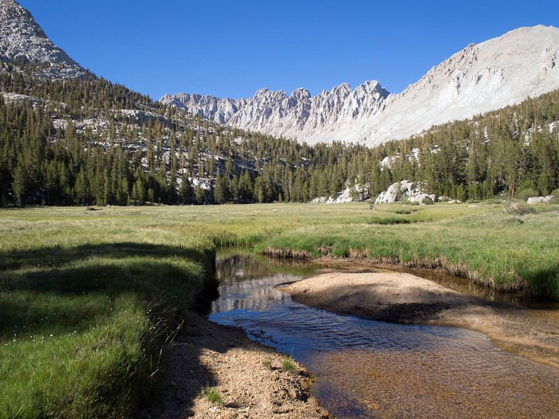 Near my campsite along Rock Creek in the lower part of Miter Basin.  I camped at 10,800'.
