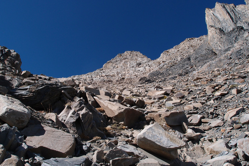 The summit area comes into view.