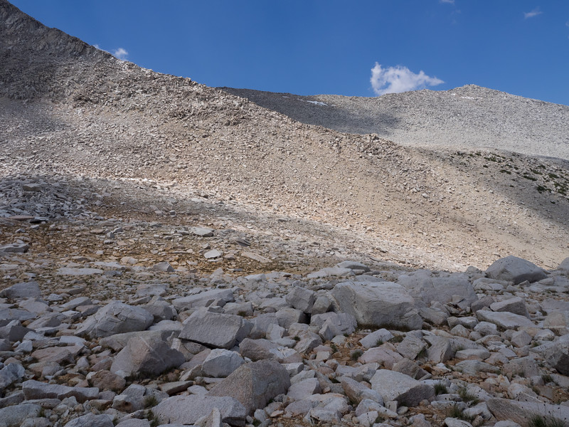 Looking back at the second ridge you cross (between the notch on the first ridge and the summit).
