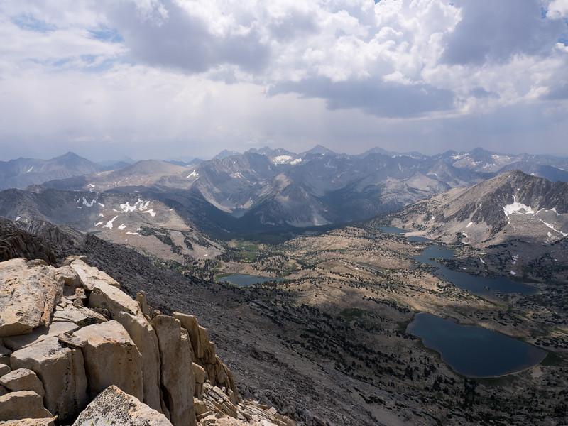 View southerly into Pioneer Basin and beyond
