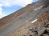 The Tungstar Mine ahead - that's where the road ends and I go up the loose chutes to the summit of Mount Tom
