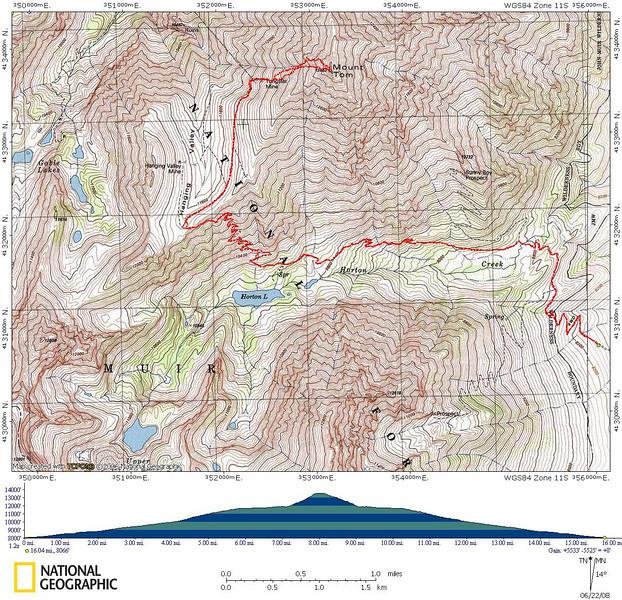 Mount Tom Map