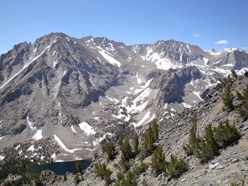 Basin Mountain with Horton Lake below.