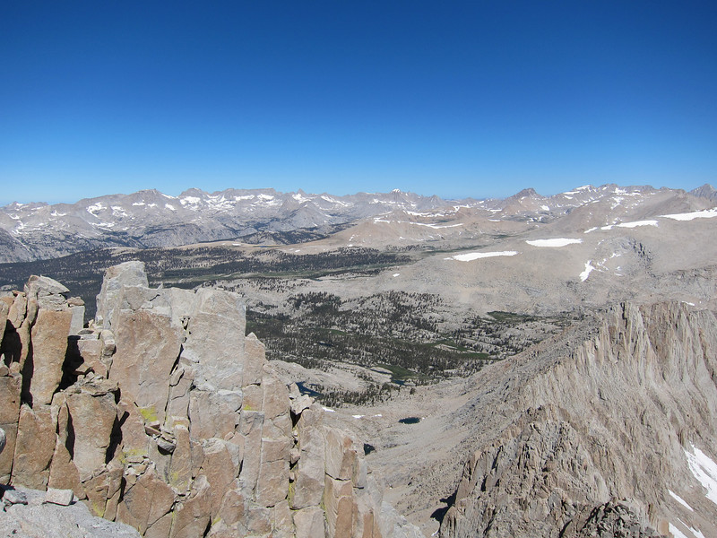 Looking northwesterly from the summit of Hale.  The Kern Trench and Milestone Basin in the distance.