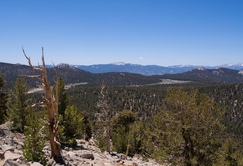 View southwest to Kern Peak