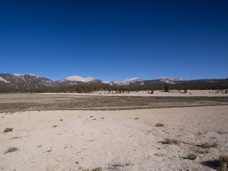Cirque Peak and Mount Langley as seen from Horseshoe Meadows.