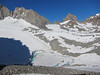 Palisade Glacier Lake and Mount Wichell to the right above it.