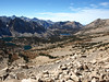 View to the west side of Kearsarge Pass