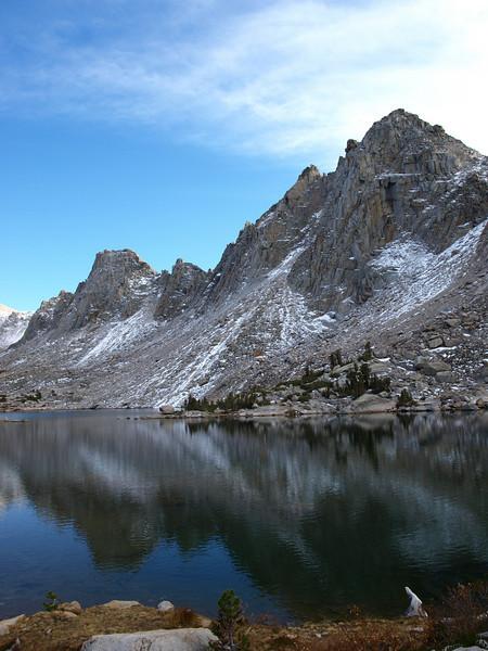A Kearsare Lake with Kearsarge Pinnacles above it.