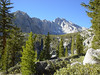 Heading up the Kearsarge Pass Trail - Looking over at University Peak.