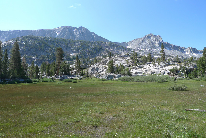 A very pretty meadow -  Mount Crocker in the distance on the right side of the photo and Stanford to the left of center.