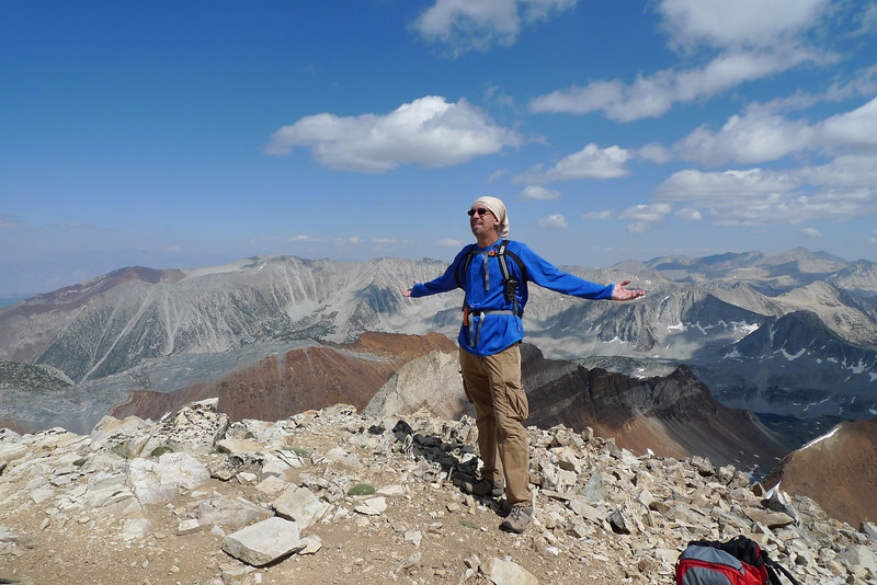 Robb on the summit of Red Slate Mountain.