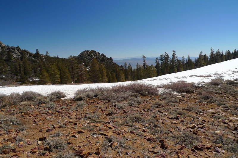Looking back down the way I came up to Olancha Pass.