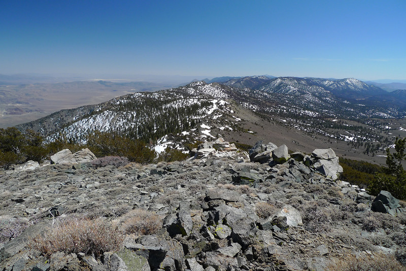 View south from the summit of Round Mountain.