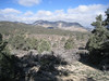 View as I was heading up the PCT - That might be Pinyon Mountain in the distance.