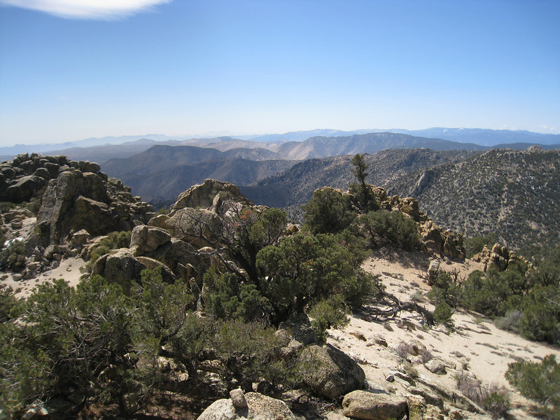 View SW from the summit of Scodie