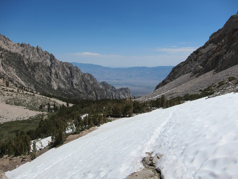One of the snowfields above Anvil Camp