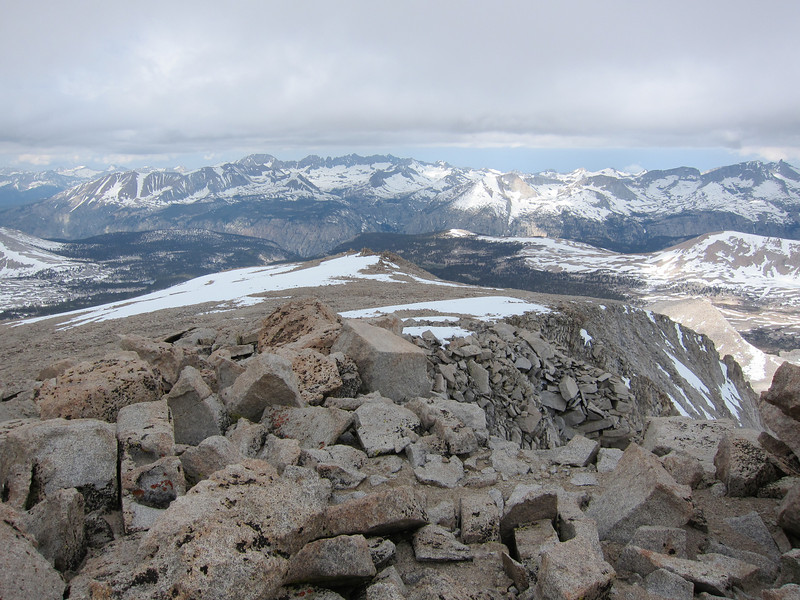 View to over on the west side of the Sierra - the Kaweahs to Milestone.