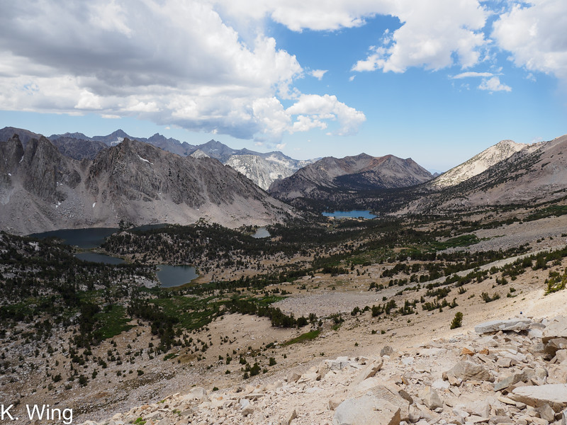 View westerly from Kearsarge Pass.