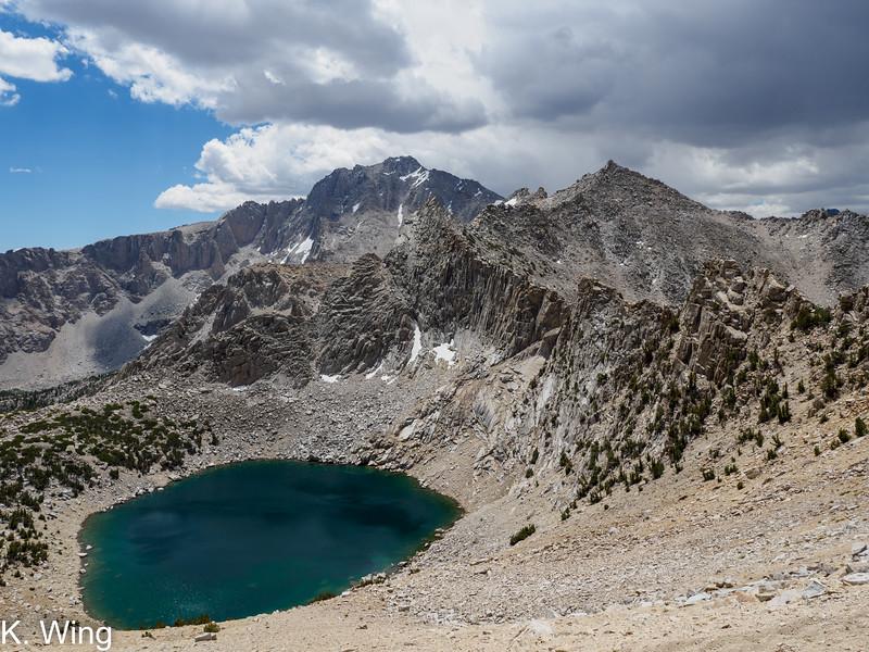 Pothole Lake with University Peak in the background.
