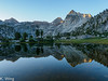 Morning Light on Tarn in the Rae Lakes area.