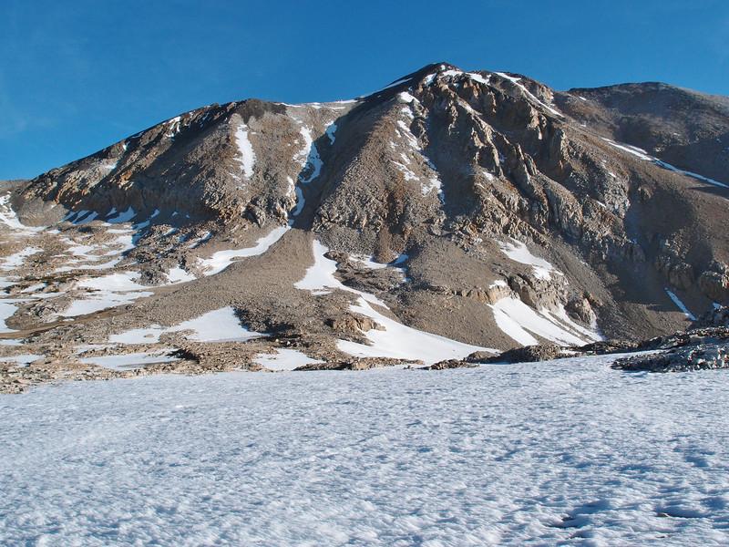 Looking back at the Taboose Pass area - Cardinal Mountain.
