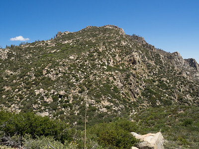 Looking back at the steep final hill to the summit of Split Mountian