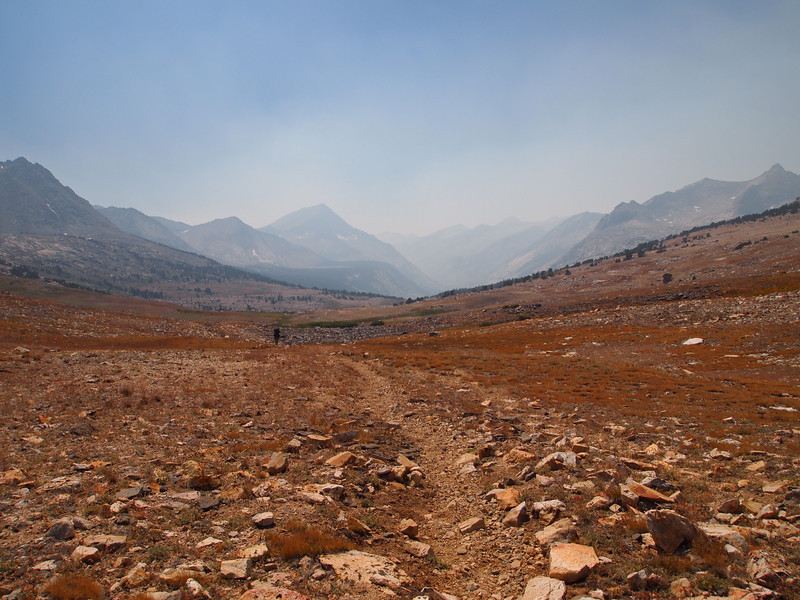 View west from Taboose Pass - very sad.